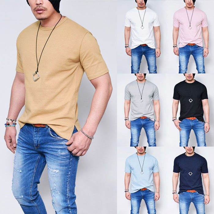 Easy Fit Brushed Unbalance Round-Tee 694