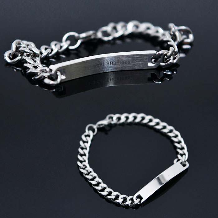 Surgical Steel Chain Cuff-Bracelet 369