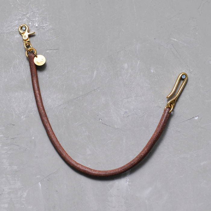 Thick Whole Grain Leather Brass KeyChain-Gadget 81