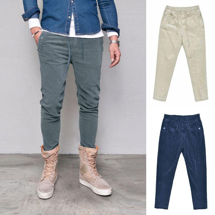 Slim Banding Span Corduroy-Pants 264