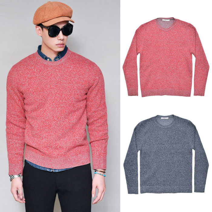 Marled Wool Cashmere Sweater-Knit 178