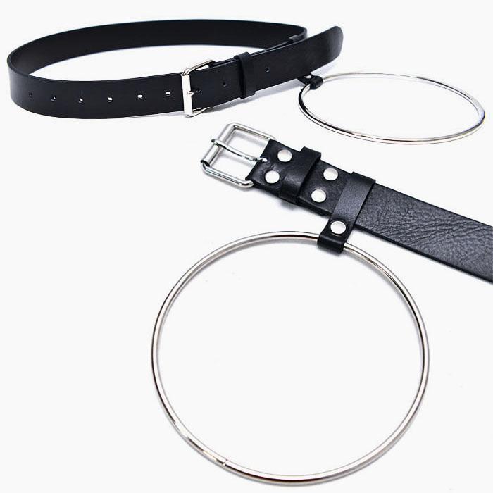 Long Circle Ring Leather-Belt 161