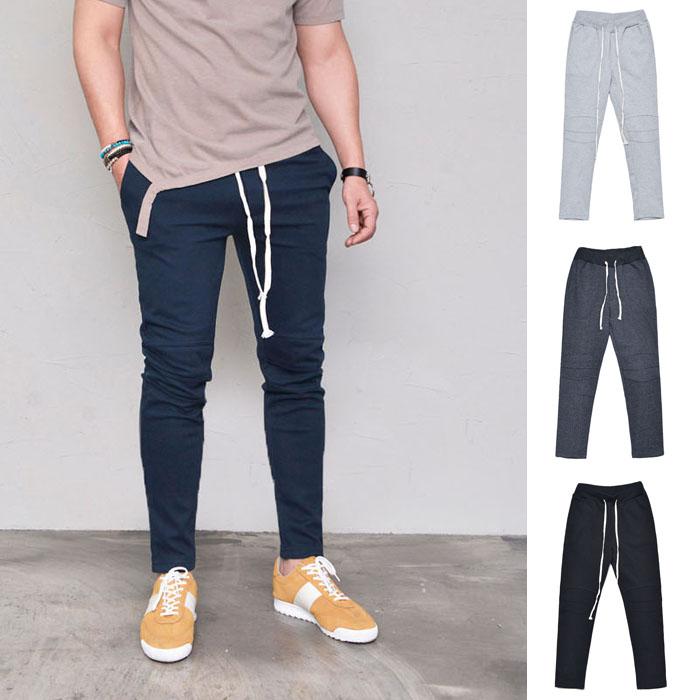 Biker Seam Slim Gympants-Sweatpants 363