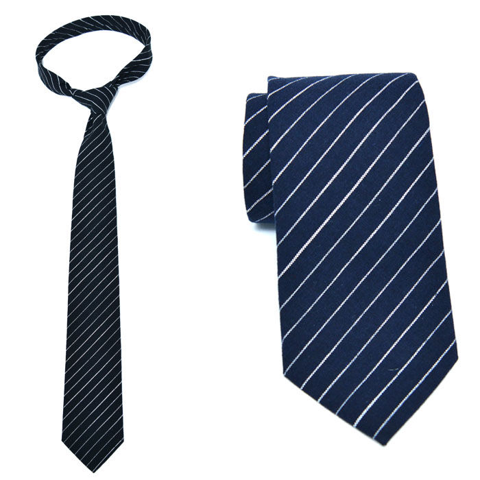 Sleek Striped Wool Tie-Tie 55