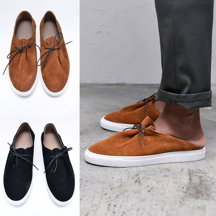 Suede Folding Mule Loafer-Shoes 663
