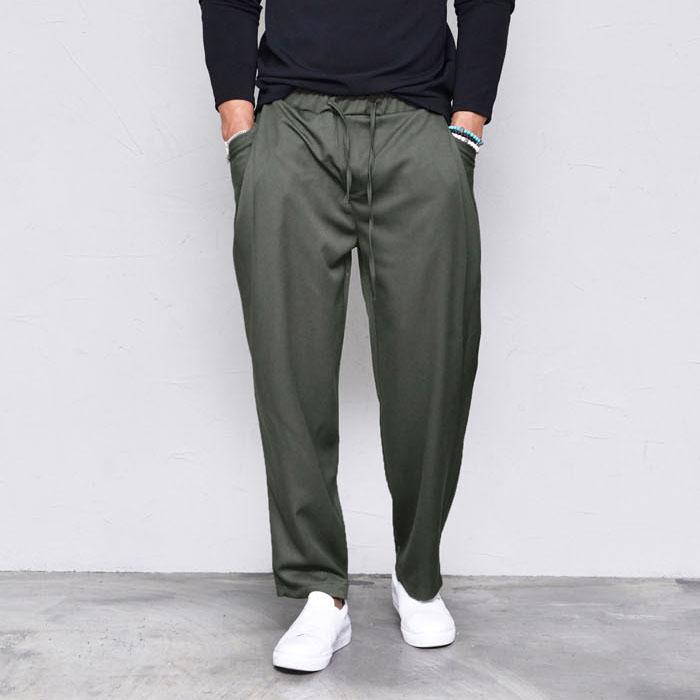 Wide Cut Banding Baggy-Pants 352