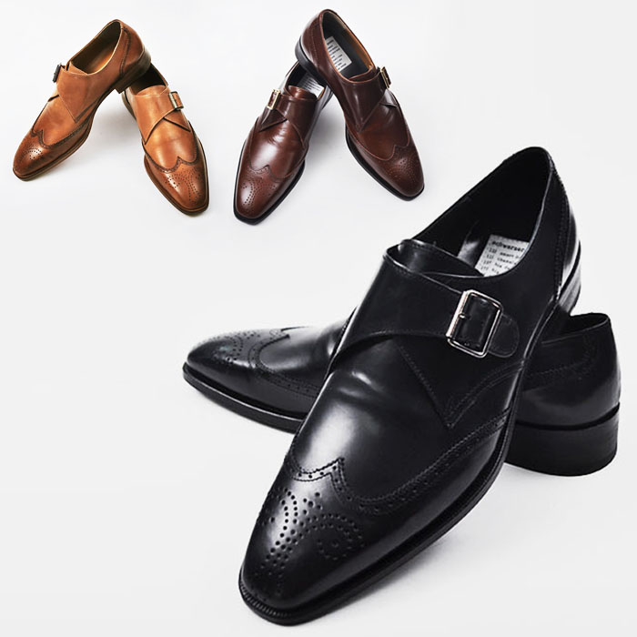 Lux Dandy Wingtip Monk Strap-Shoes 665