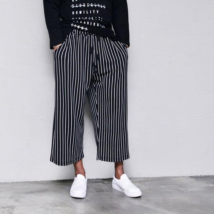 Stripe Wide Span Baggy-Pants 357