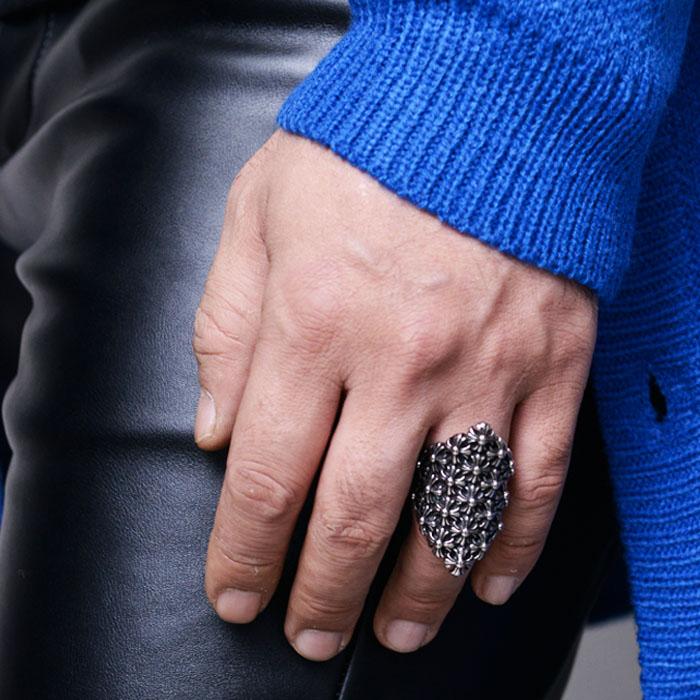 Avant-garde Flower Engraved Ring-Ring 88