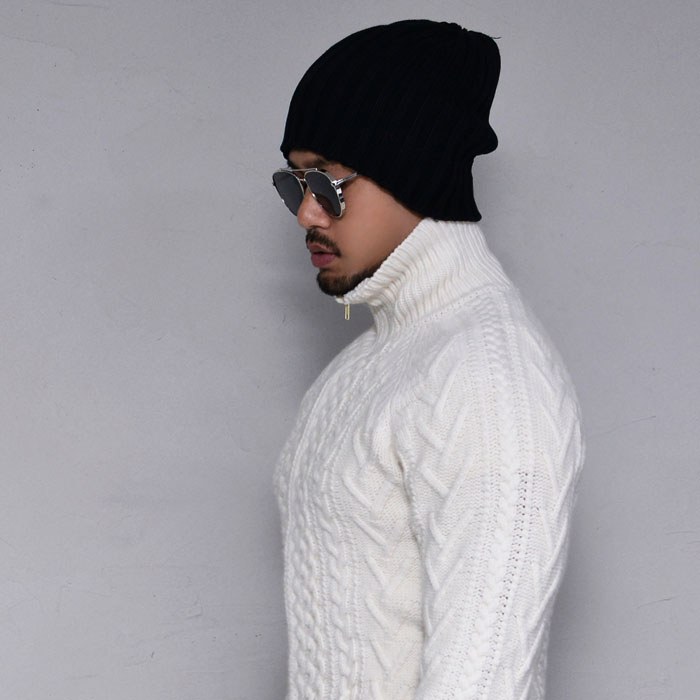 Thick Cable Wool Zipup-Jacket 337