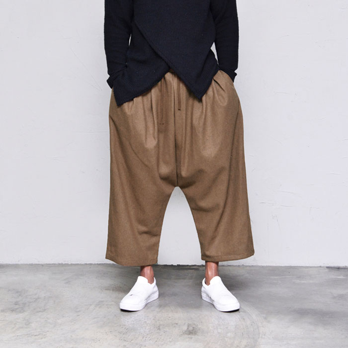 Thick High Wool Wide Baggy-Pants 375