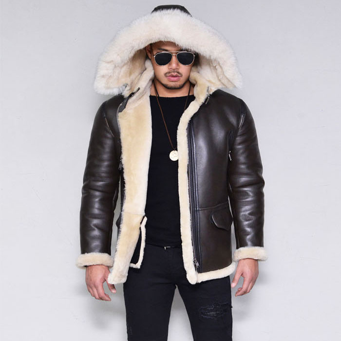 Premium Hooded Full Shearling-Leather 149