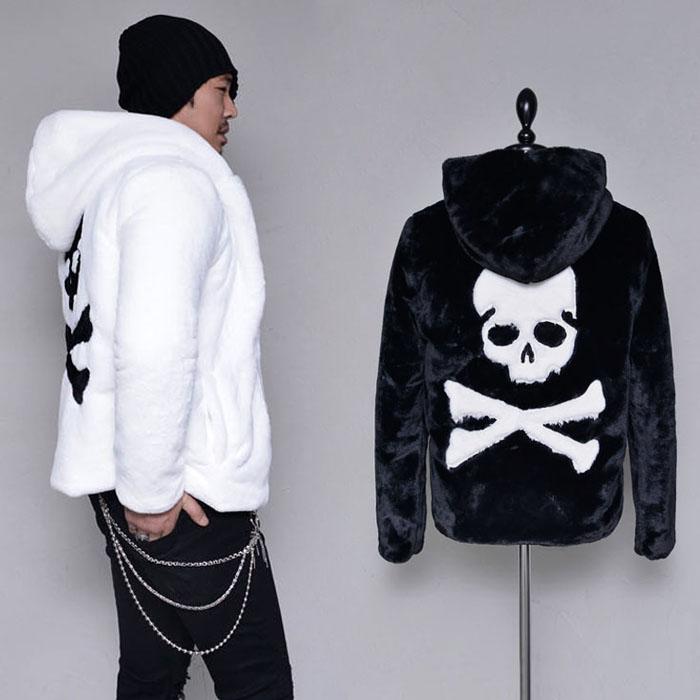 Thick Full Fur Skull Hood-Jacket 340