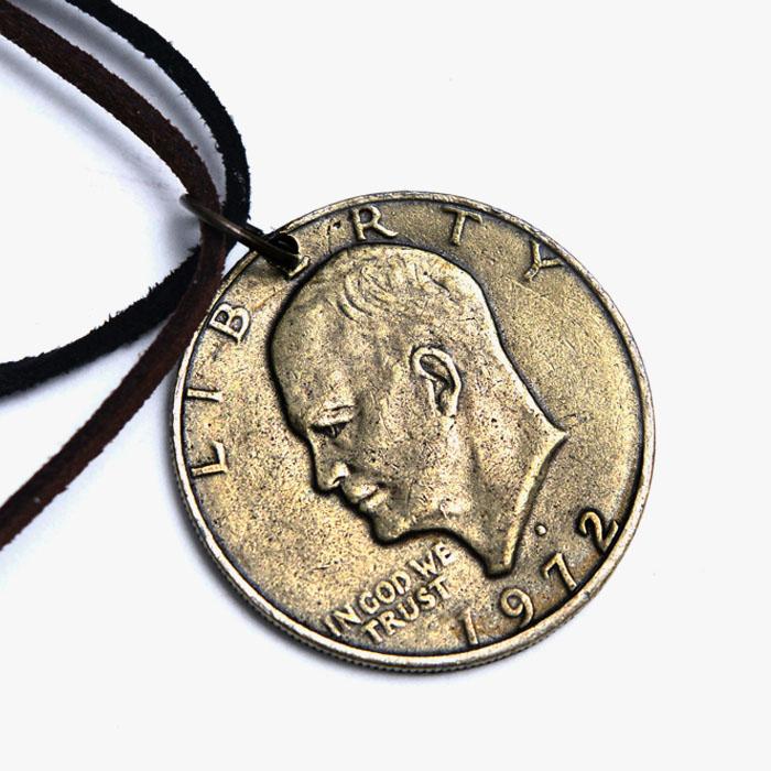 Antique Lucky Dollar Coin-Necklace 340