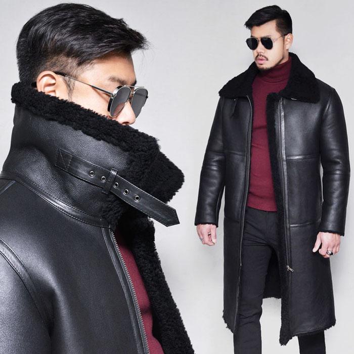 Black Label Full Shearling Highneck-Leather 152