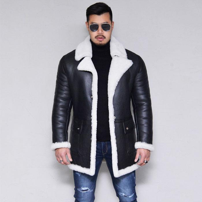 White Shearling Lambskin Half-Leather 153