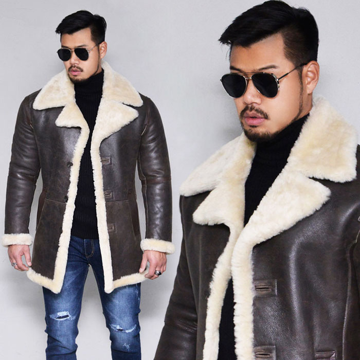 Shearling Lambskin Half Coat-Leather 154