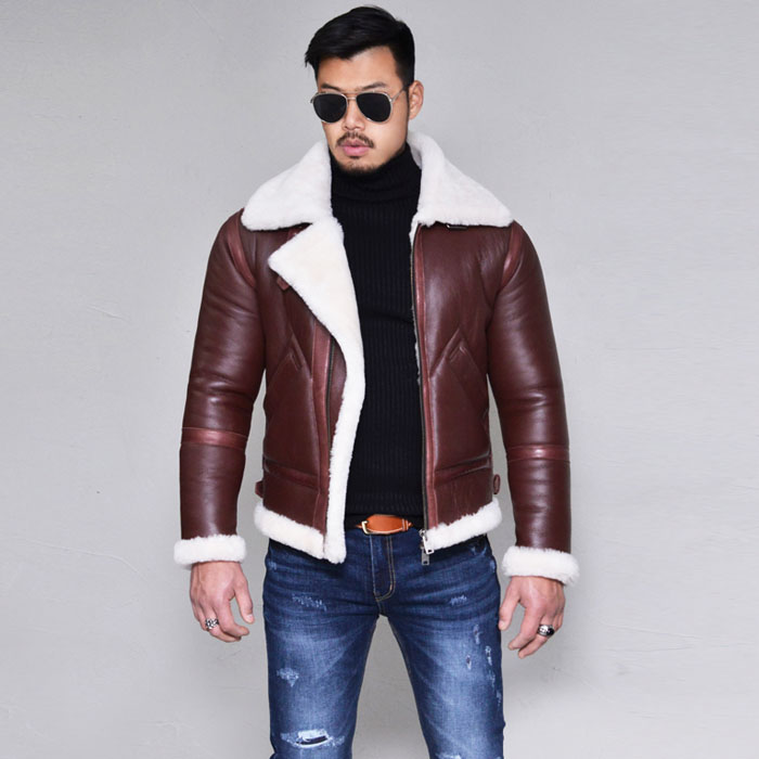 Lux Taping Lambskin Shearling-Leather 155