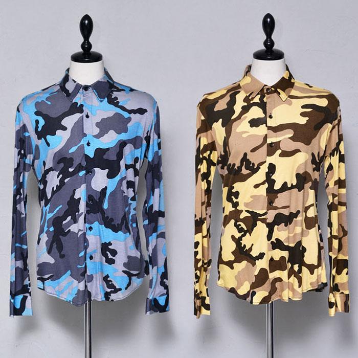 Softly Body-hugging Camo Shirt-Sale 89