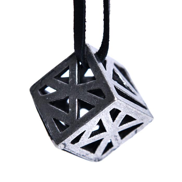 Antique Cube Pendant-Necklace 342