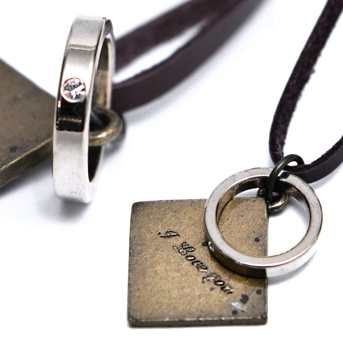 Love You Ring Rhombus-Necklace 343
