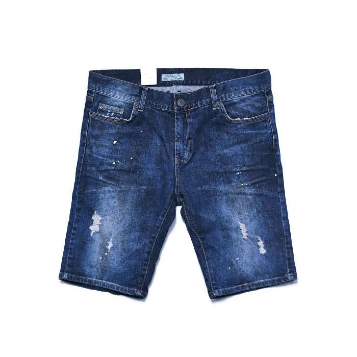 Oil Vintage Distressed Slim Shorts-Sale 93