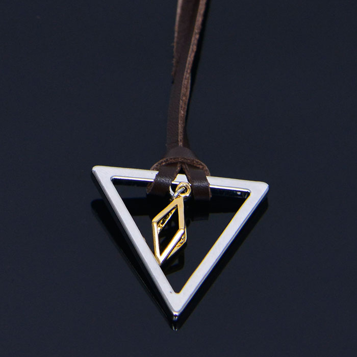 Gold Dia Triangle Long-Necklace 344