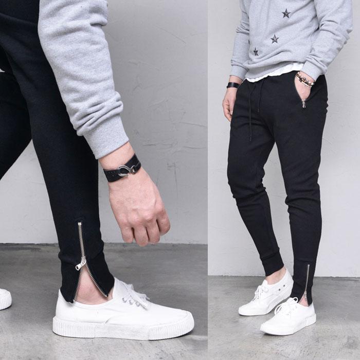 Slim Zipper Jogger Gympants-Sweatpants 393
