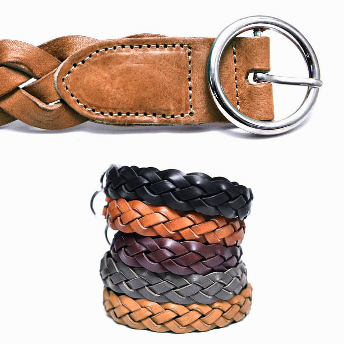 Vintage O ring Mesh Cowhide-Belt 190