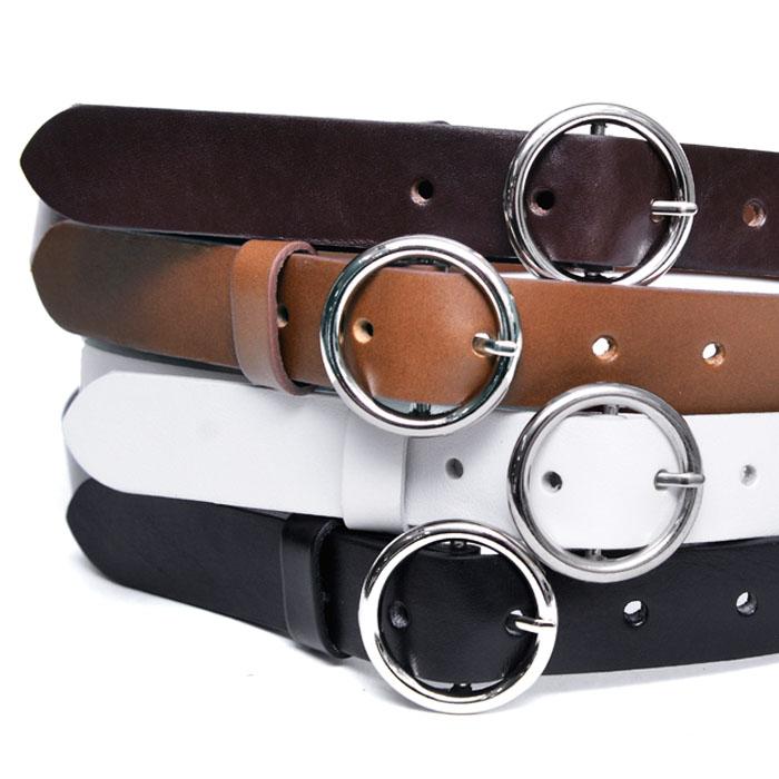 O Ring Slim Leather-Belt 195