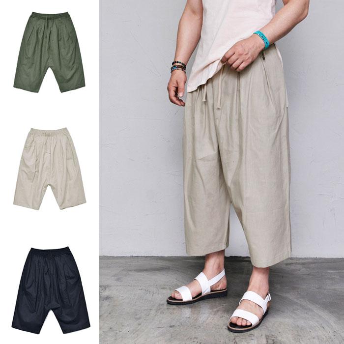 Linen Volume Drop Baggy-Pants 415