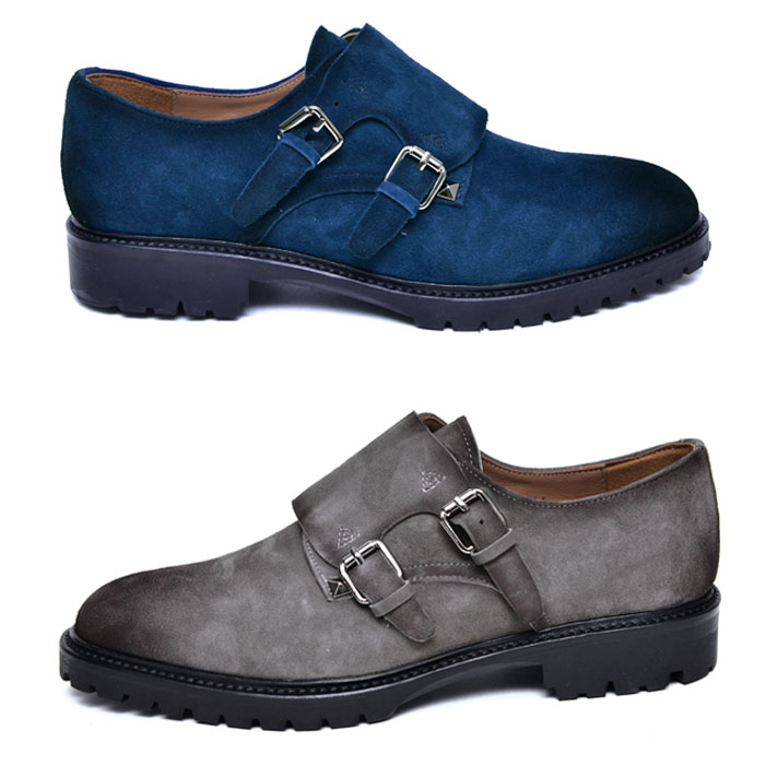 Suede Gradation Monk-Shoes 708