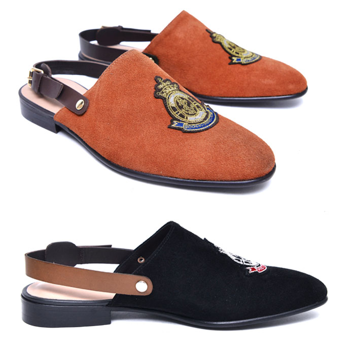 Embroidery Suede Sandal-Shoes 709