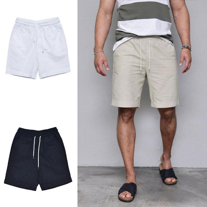 Daily Basic Linen Turn-up-Shorts 201