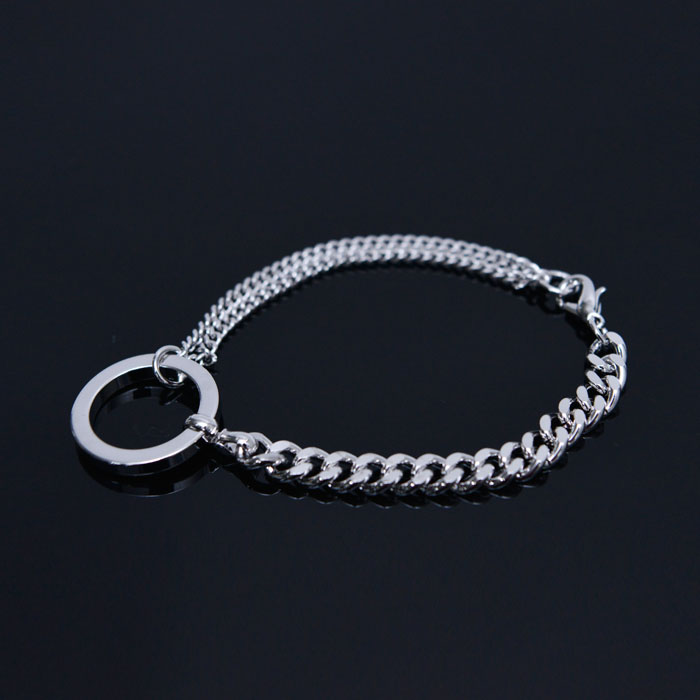 Circle Charm Chain Cuff-Bracelet 474