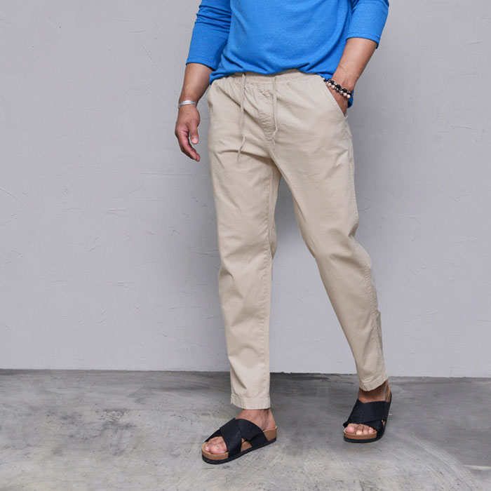 Softly Washed Light-weight Banding-Pants 446