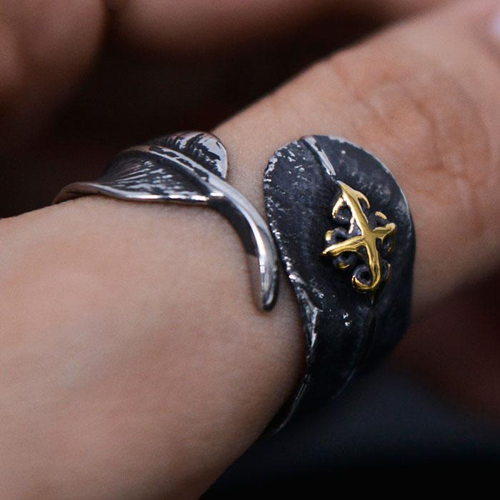 Sailor Charm Antique Leaf-Ring 99