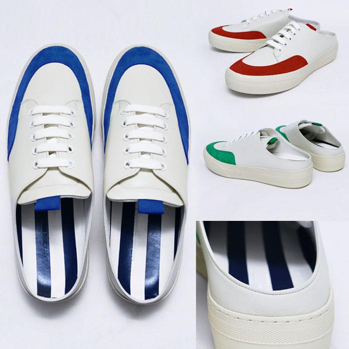 Suede Contrast Mule Sneakers-Shoes 752
