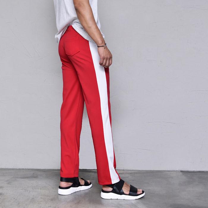 Wide Line Poly Gympants-Sweatpants 397