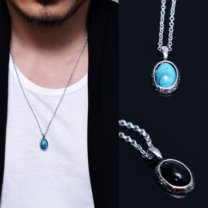 Teardrop Gemstone Necklace-Necklace 365