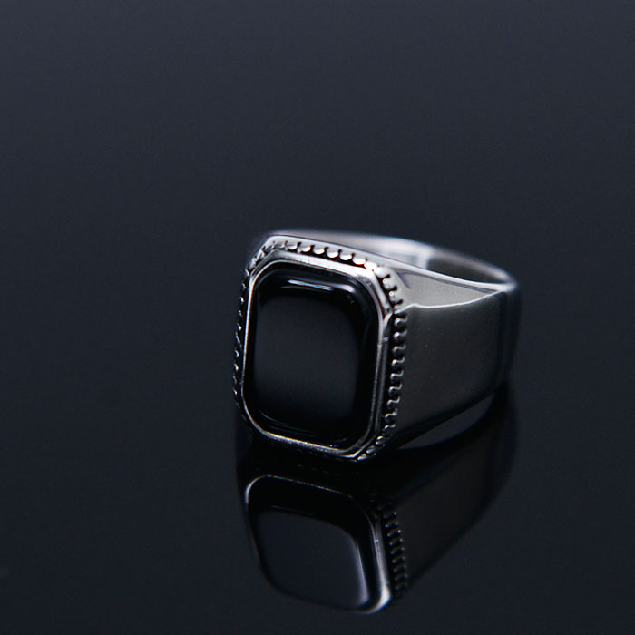 Square Onix Streel Ring-Ring 99