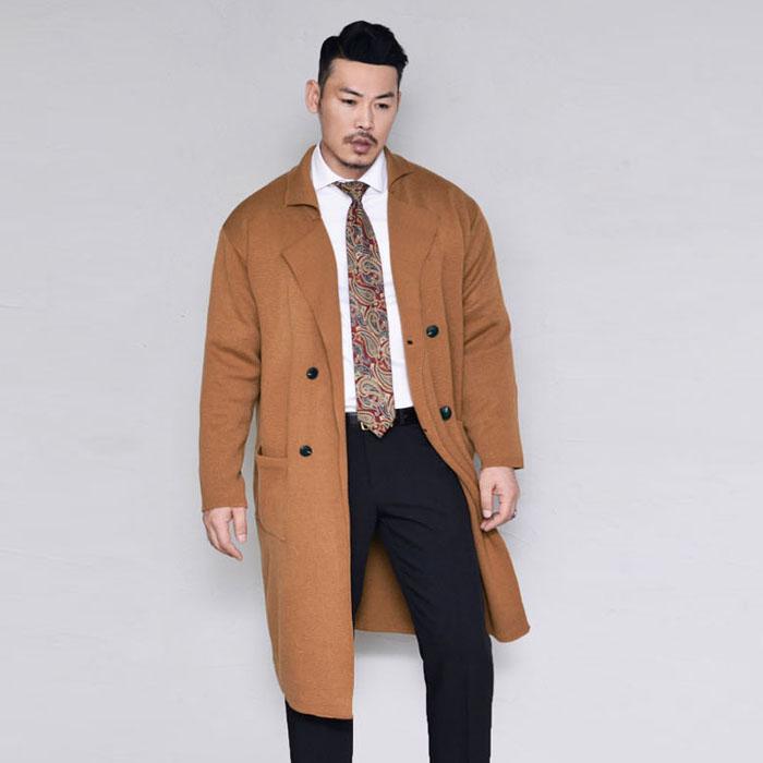 Knit Double Cardigan Coat-Coat 155