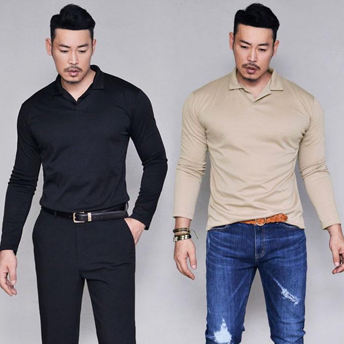 Smooth Silket Open Collar Shirt-Tee 162