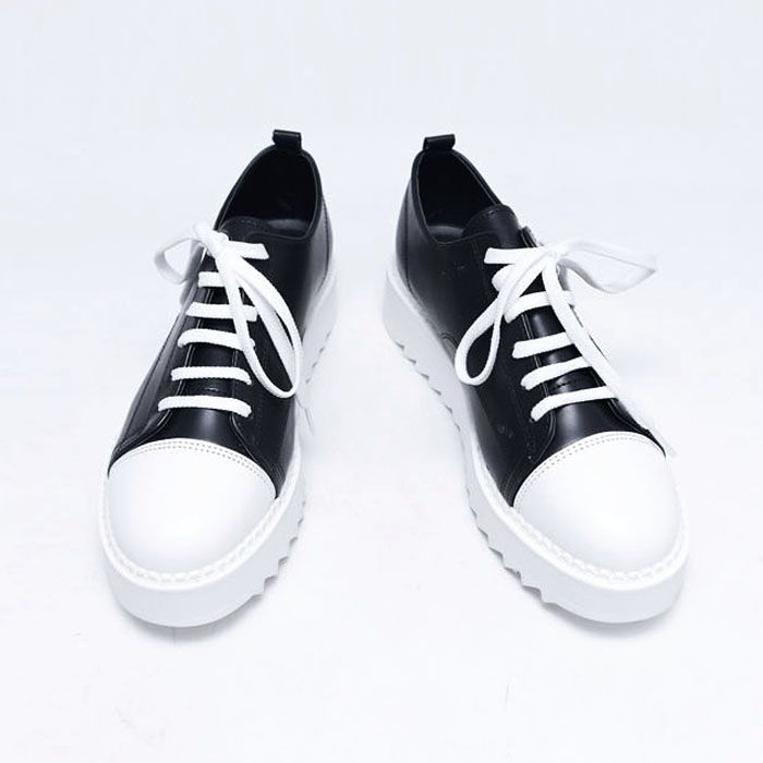 5cm Heel Leather Sneakers-Shoes 758