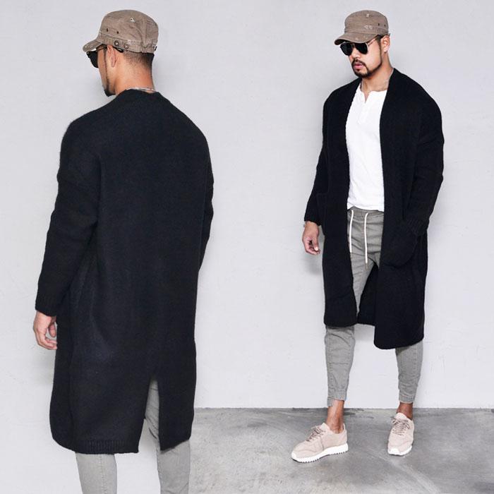Thick Long Brushed Jacket-Cardigan 287