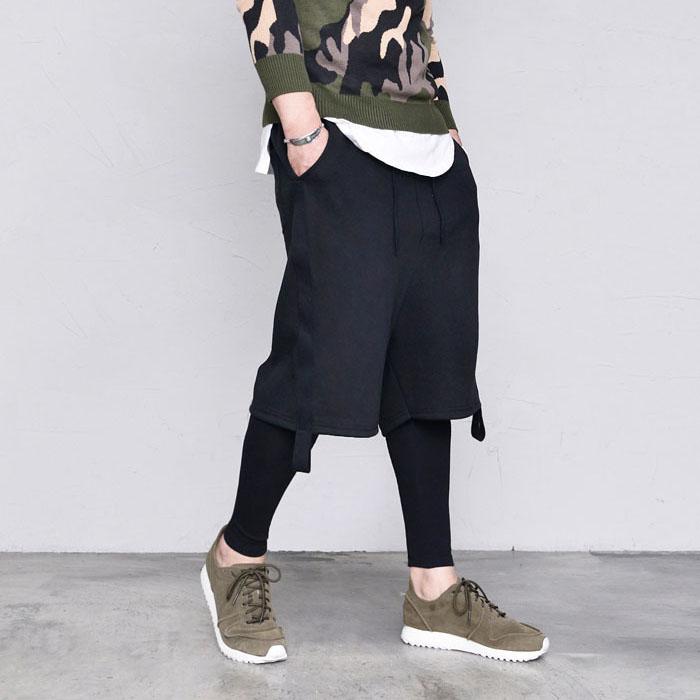 Built-in Fleece Leggings Baggy-Sweatpants 407