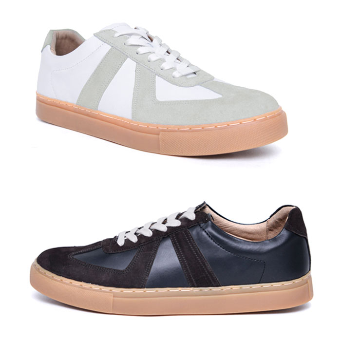 German Soldier Leather Sneakers-Shoes 764