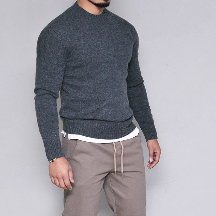Wool Cashmere Slim Fit Sweater-Knit 240
