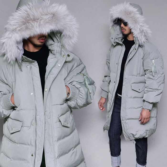 Duckdown Raccoon Padding-Parka 107