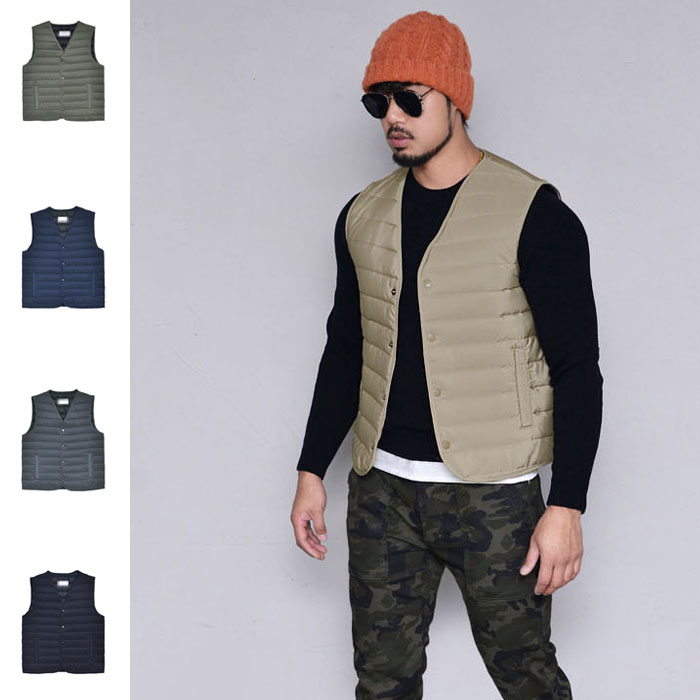 Slim Fit Padding Vest-Vest 157